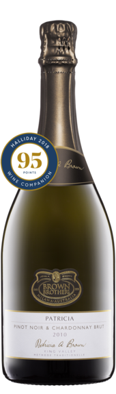 Bottle of Brown Brothers'  Patricia Pinot Noir Chardonnay Brut