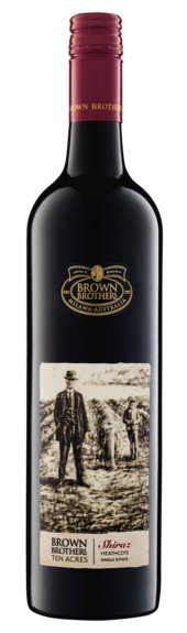 Bottle of Brown Brothers' Ten Acres Shiraz