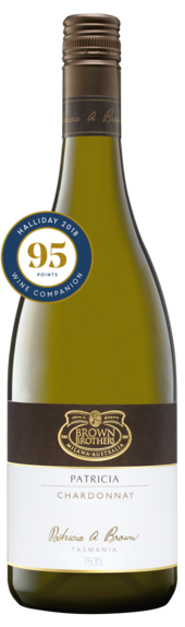Bottle of Brown Brothers'  Patricia Chardonnay