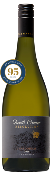 Bottle of Brown Brothers' Resolution Chardonnay