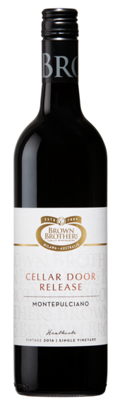 Bottle of Brown Brothers' Cellar Door Release Montepulciano