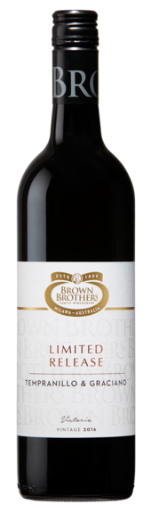 Bottle of Brown Brothers' Limited Release Tempranillo & Graciano
