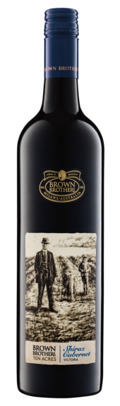 Bottle of Brown Brothers' Ten Acres Shiraz Cabernet