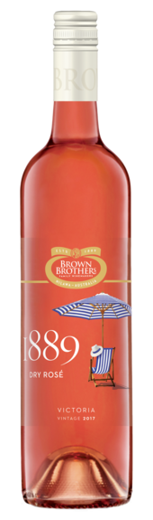 Bottle of Brown Brothers' 1889 Dry Rose