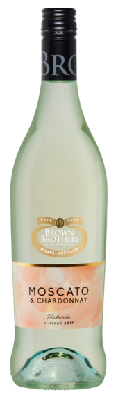 Bottle of Brown Brothers' Moscato & Chardonnay
