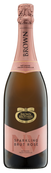 Bottle of Brown Brothers' Sparkling Brut Rose