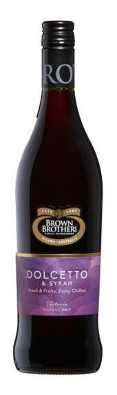 Bottle of Brown Brothers' Dolcetto & Syrah