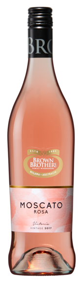 Bottle of Brown Brothers' Moscato Rosa