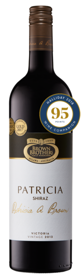 Bottle of Brown Brothers'  Patricia Shiraz