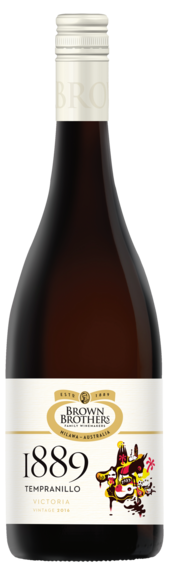 Bottle of Brown Brothers' 1889 Tempranillo