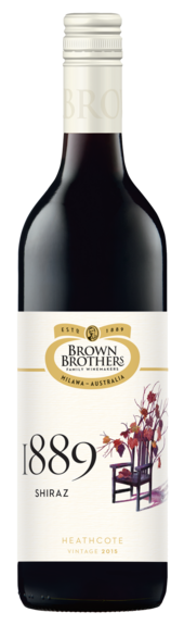 Bottle of Brown Brothers' 1889 Shiraz