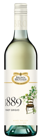 Bottle of Brown Brothers' 1889 Pinot Grigio