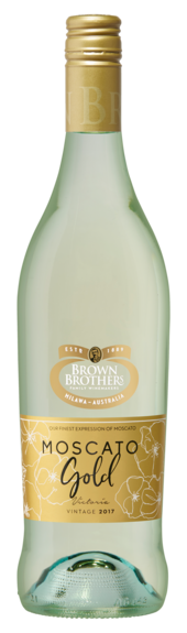 Bottle of Brown Brothers' Moscato Gold