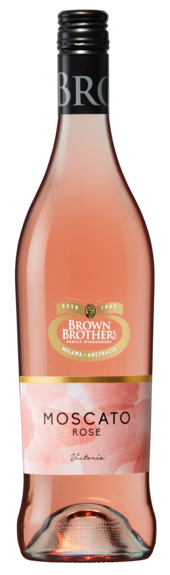 Bottle of Brown Brothers' Moscato Rose